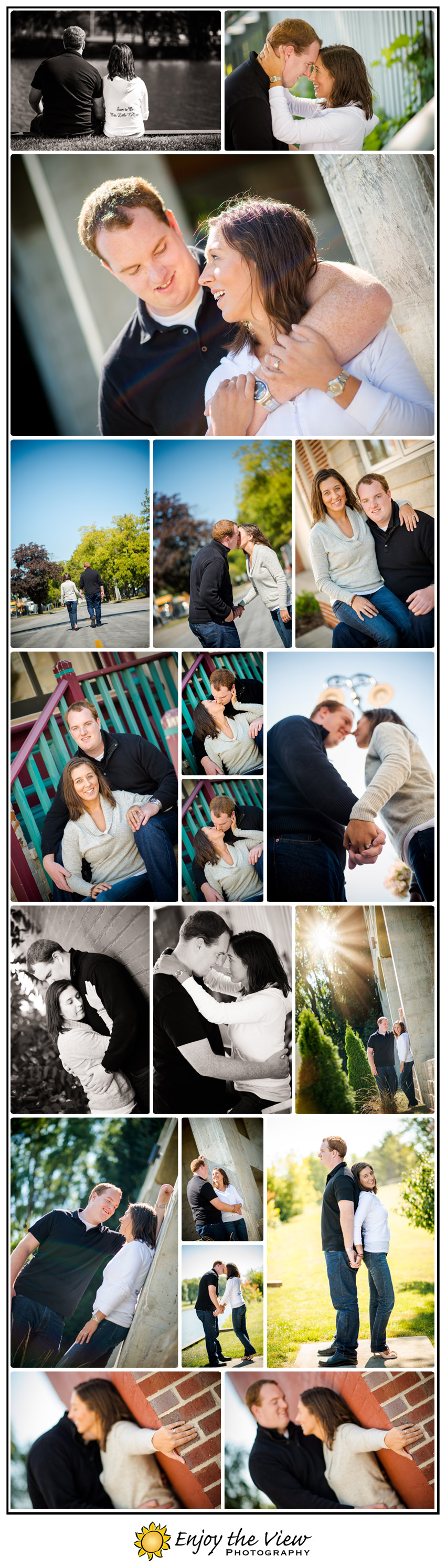 Engagement photos in Frankenmuth Michigan