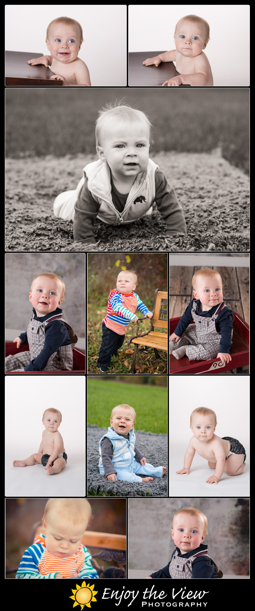 Easton 9 Months Old {Clio Child Photographer}