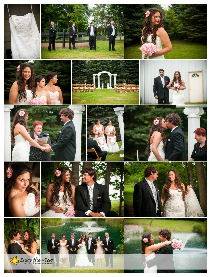 Backyard Wedding, bride & groom photos, Clio Photographer, Couple Portraits, Davison MI Wedding, Davison wedding, fun wedding, MI, outdoor summer wedding, outdoor wedding, portraits, pull barn reception, studio in Clio, Wedding