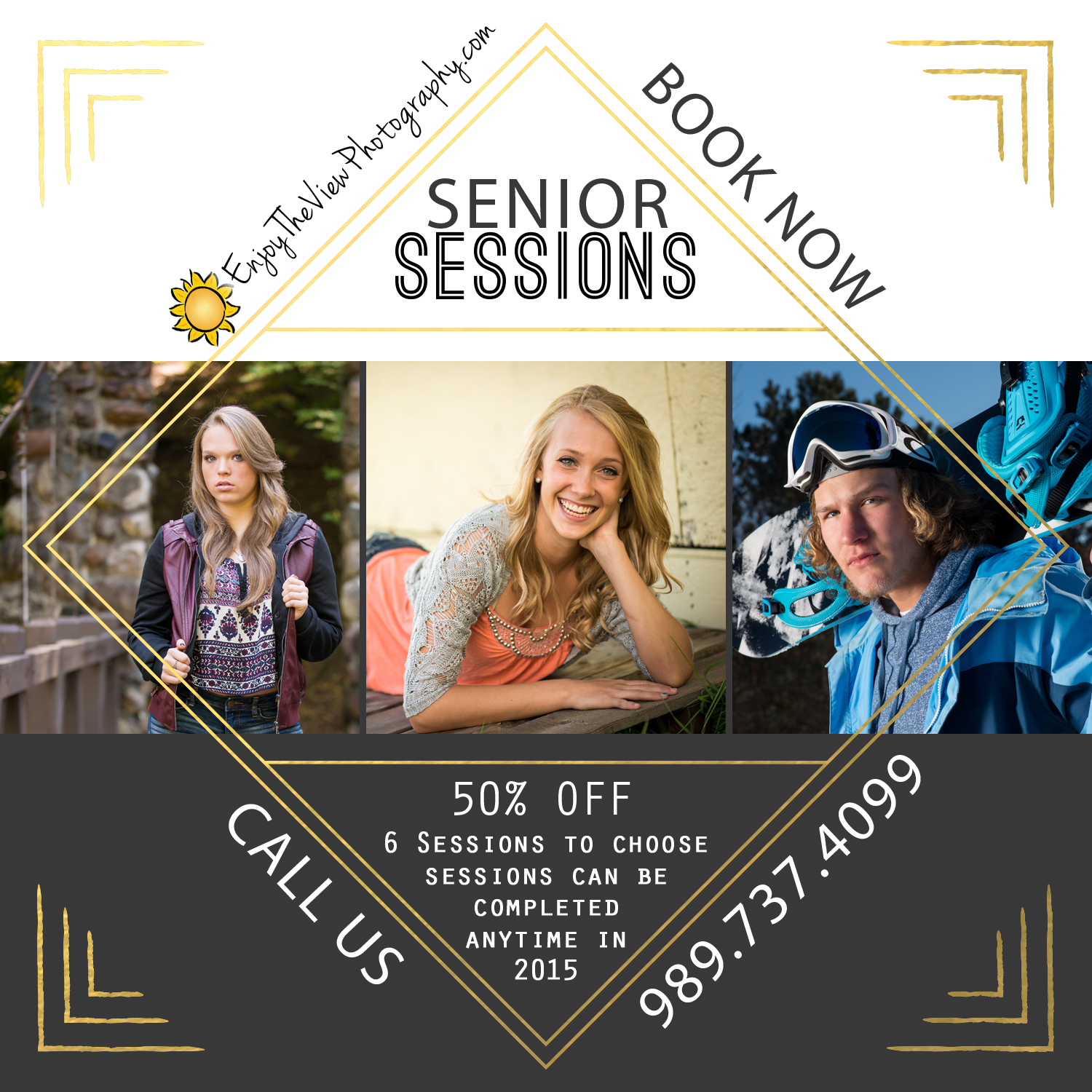 High School Seniors! 50% Off Sessions {Clio Senior Photographers}