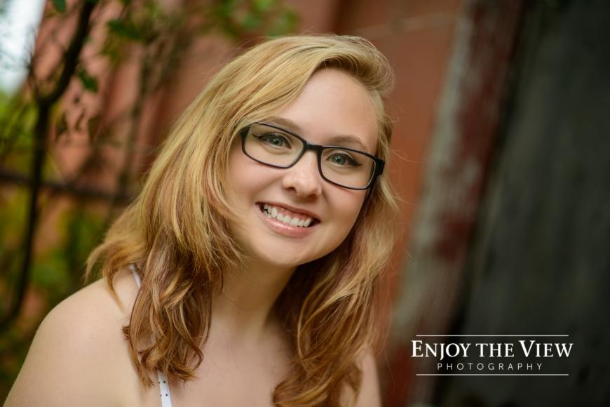 senior girl with glasses