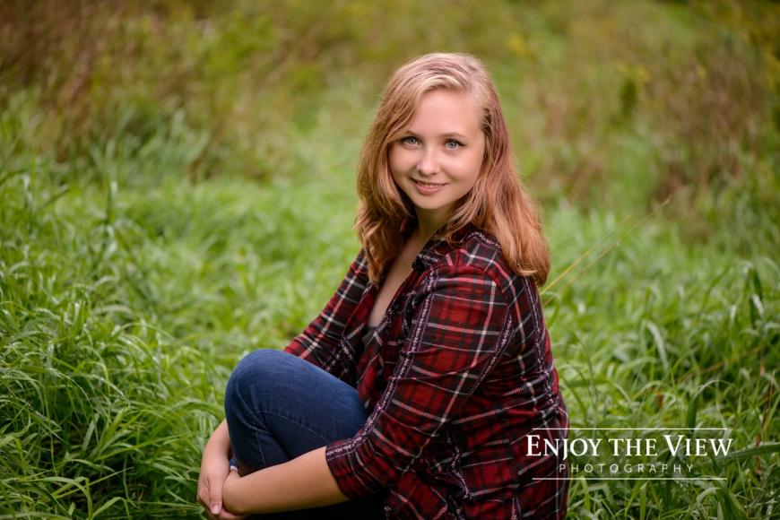 senior girl flannel shirt